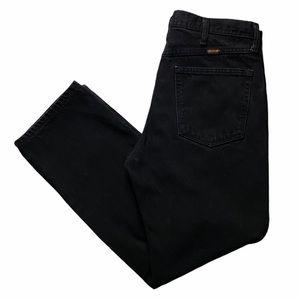 Vintage RUSTLER Men's Black Jeans 34x29